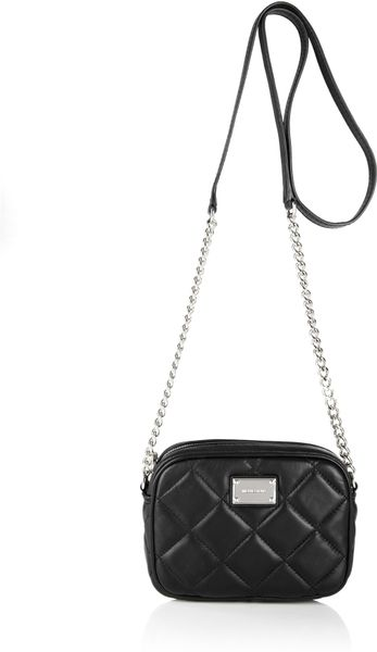 Michael By Michael Kors Quilted Cross Body Hamilton in Black - Lyst