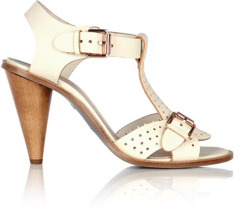 Mulberry Petticoat White Edie High Heel Sandal In White Lyst