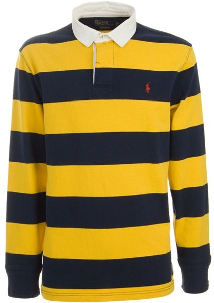 Orange Striped Long Sleeve Shirt Long Sleeve Polo Shirt