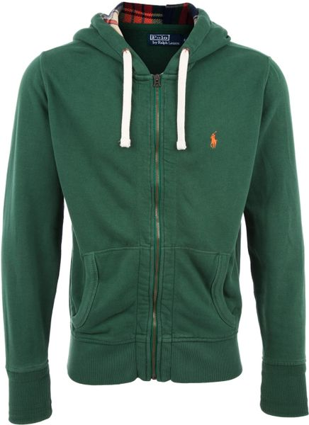 Polo Ralph Lauren Zip-through Hoodie in Green for Men | Lyst