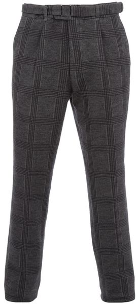 Saint Laurent Tweed Trouser in Gray for Men (grey) - Lyst