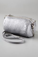 Botkier Silver Leather Night Out Crossbody Clutch in Silver (argento) - Lyst