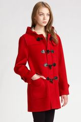 Burberry Brit Wool Duffle Coat - Lyst