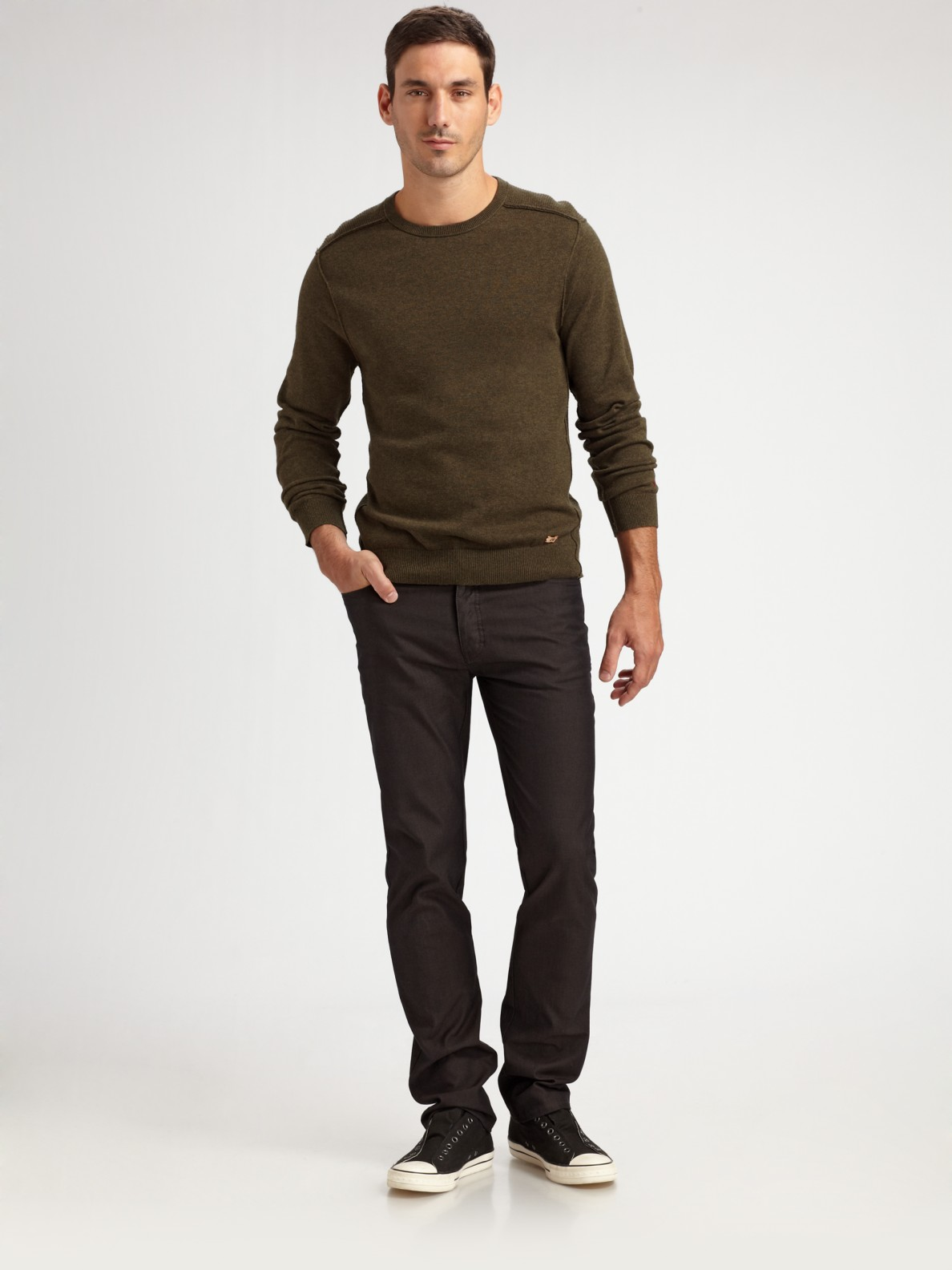 Converse Slim-fit Twill Pants in Brown for Men | Lyst