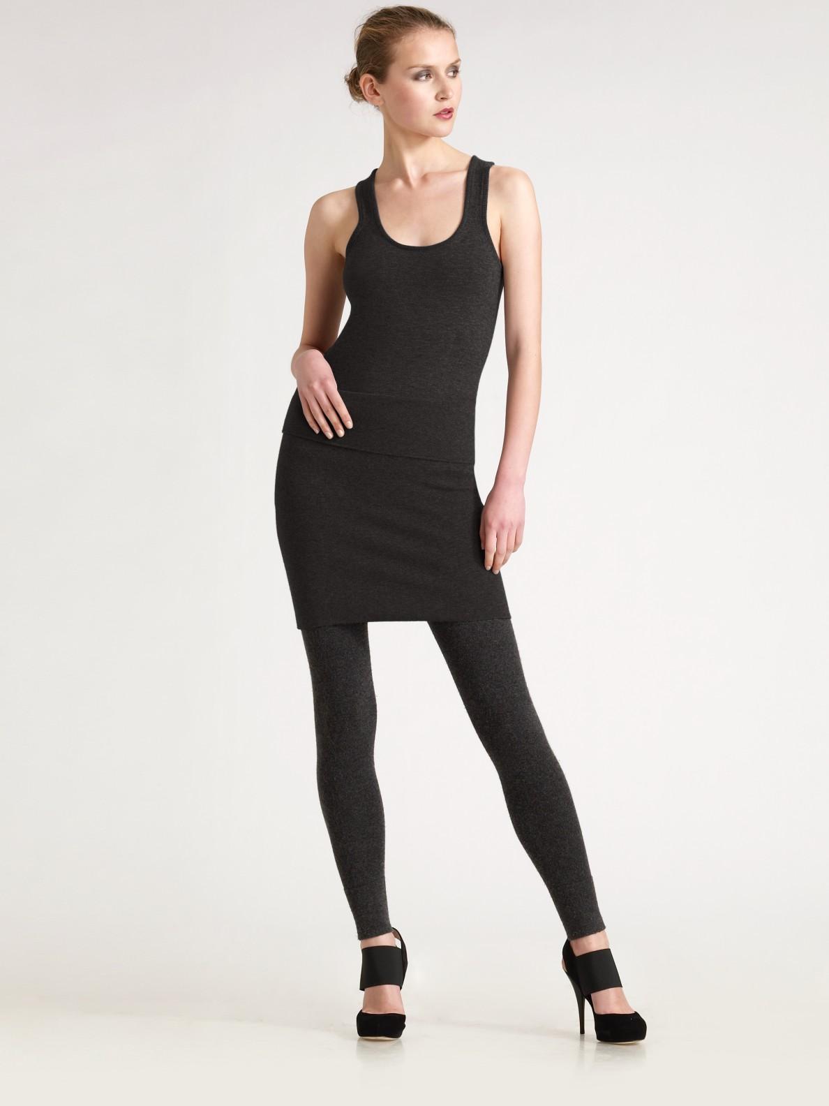 donna karan new york cashmere tube skirt in gray grey lyst. Black Bedroom Furniture Sets. Home Design Ideas