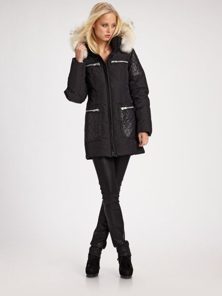 Erin Kleinberg Magdalena Down Parka Jacket in Black - Lyst