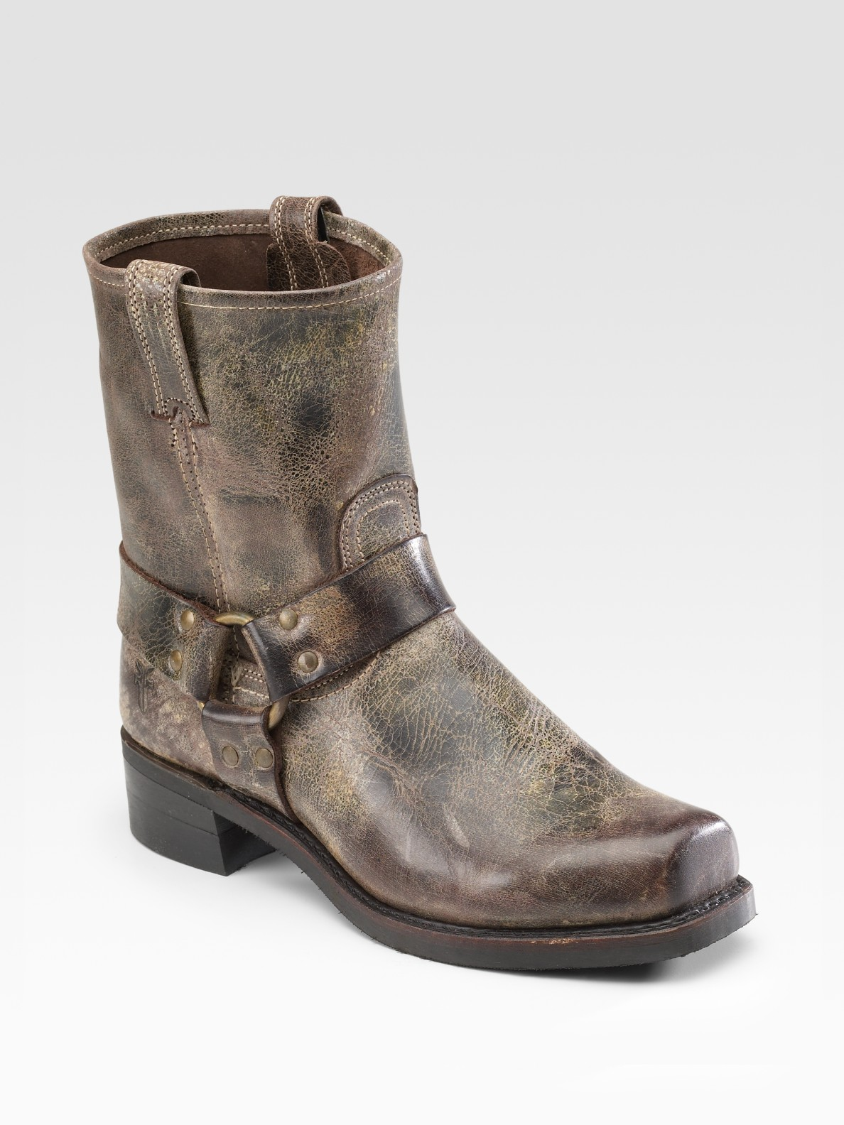 Lyst Frye Vintage Leather Harness Boots In Brown For Men