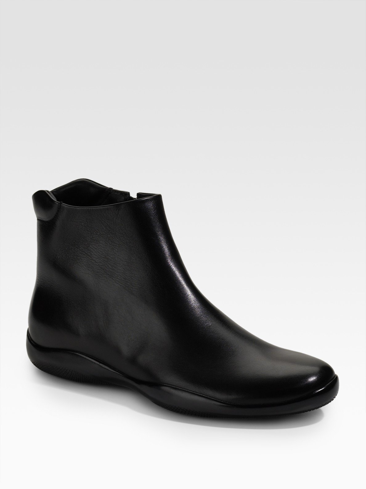 prada ankle boots in black for lyst