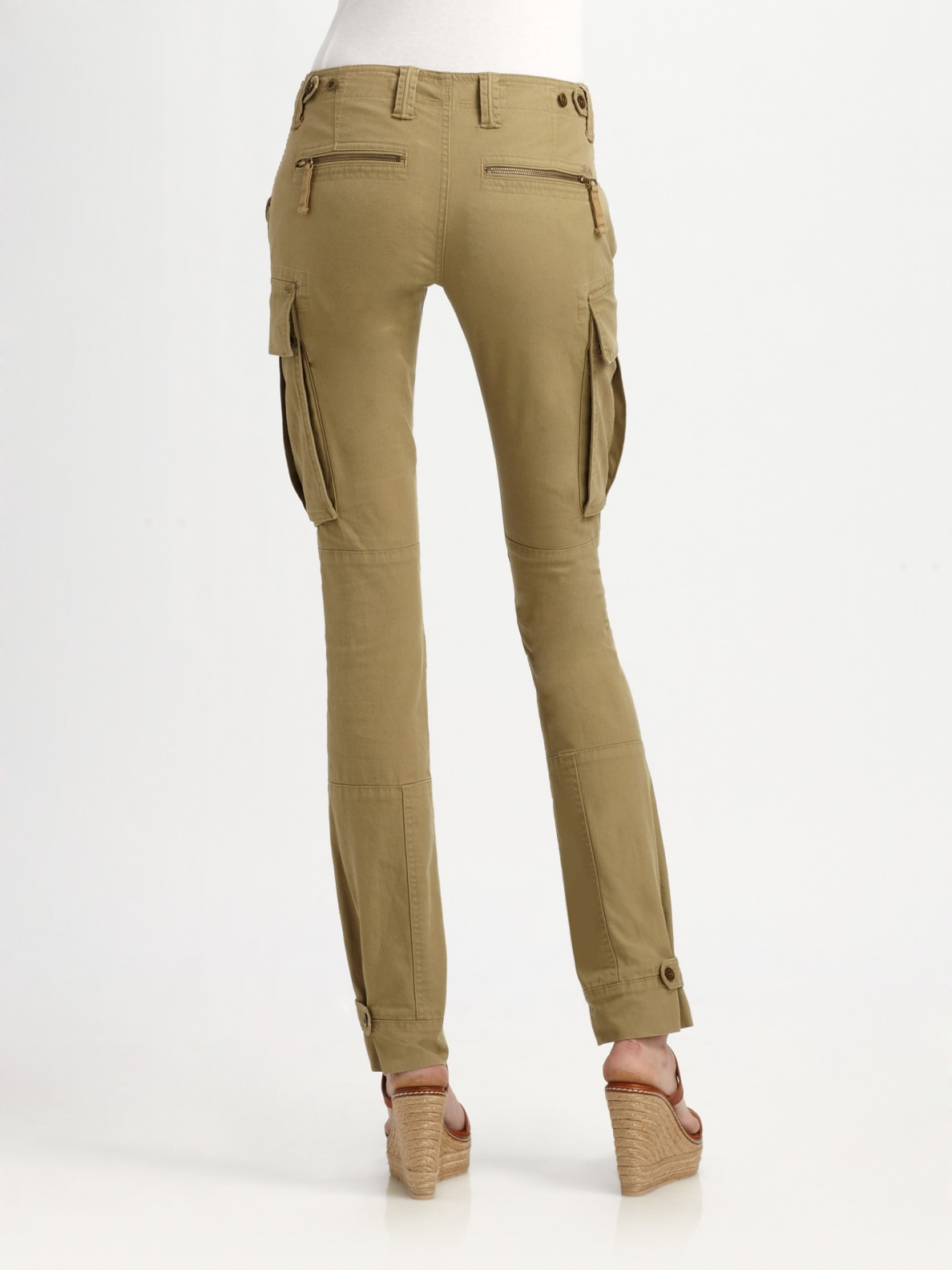 Elegant Polo Ralph Lauren Twill Cargo Skinny Pants In Green  Lyst