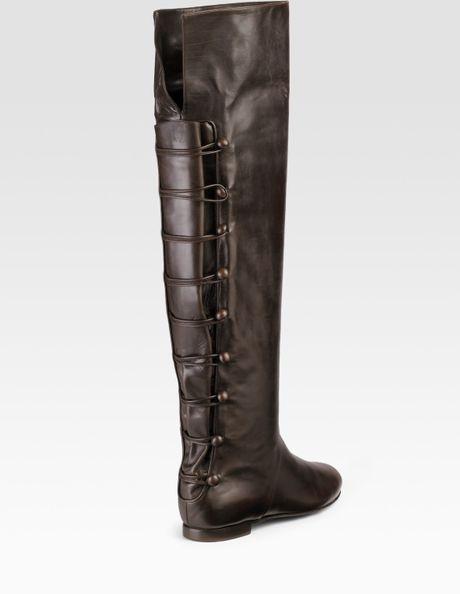 alexandra neel virella the knee flat boots in