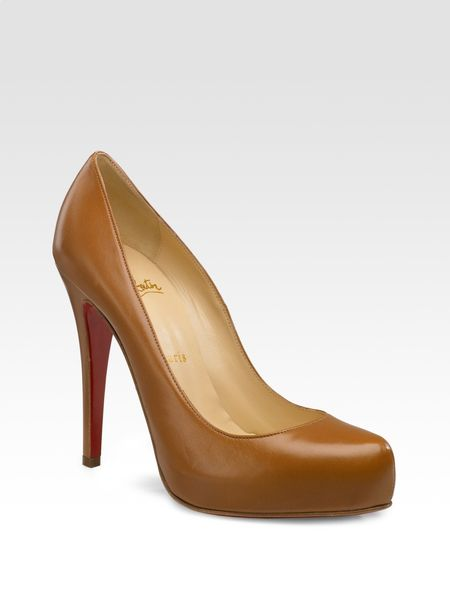 Christian Louboutin Rolando Pointtoe Pumps in Beige - Lyst