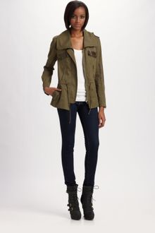 Cynthia Steffe Brushed Twill Military Jacket - Lyst