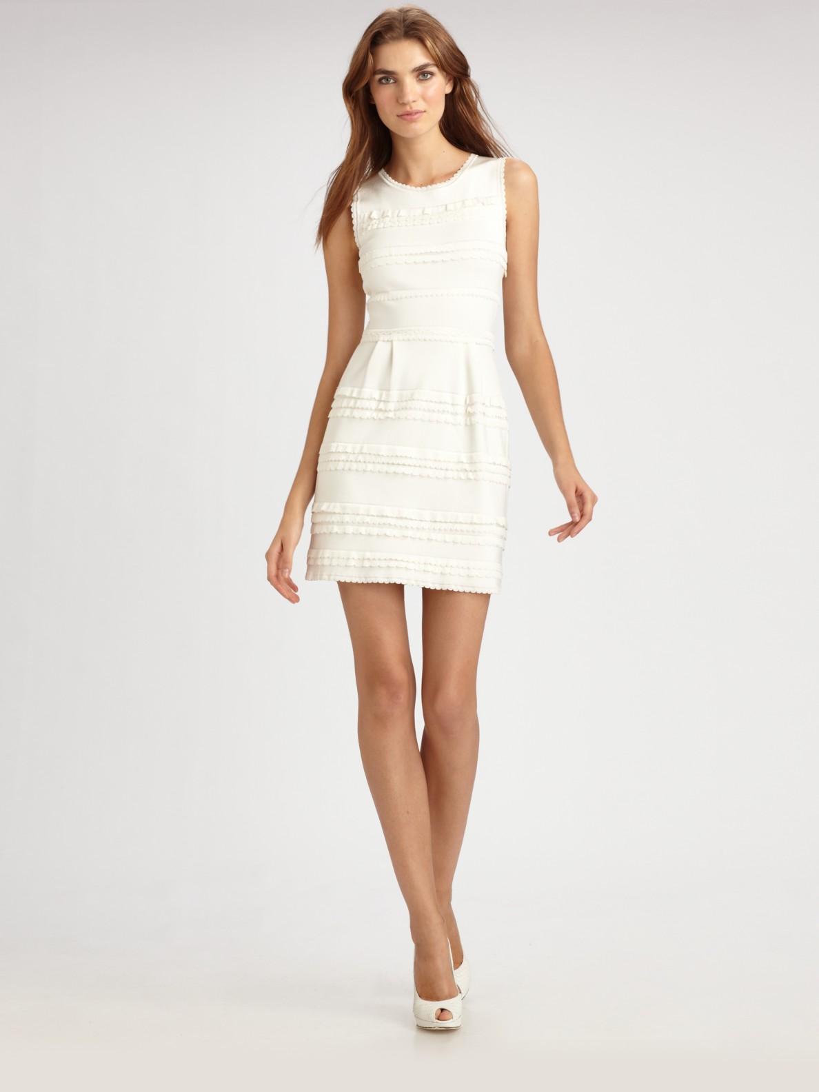 Lyst Dior Tulip Dress In White