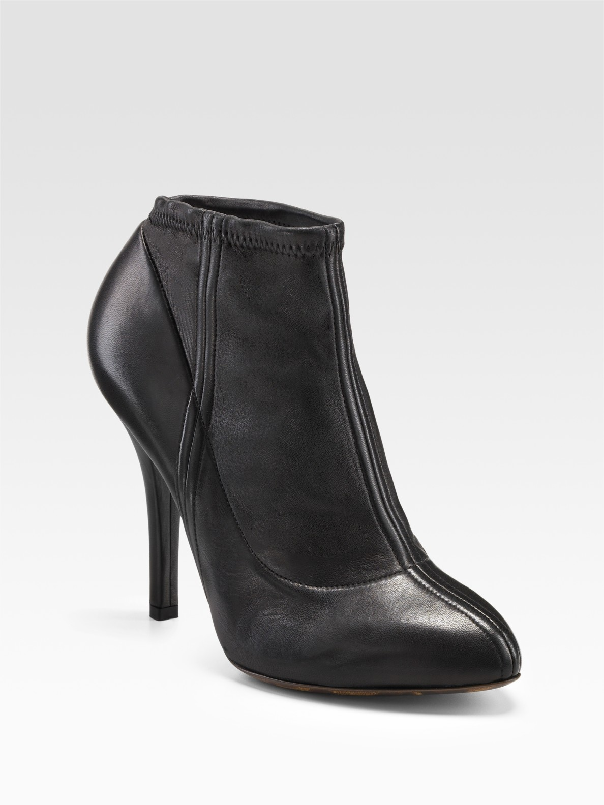 dolce gabbana stretch ankle boots in black lyst