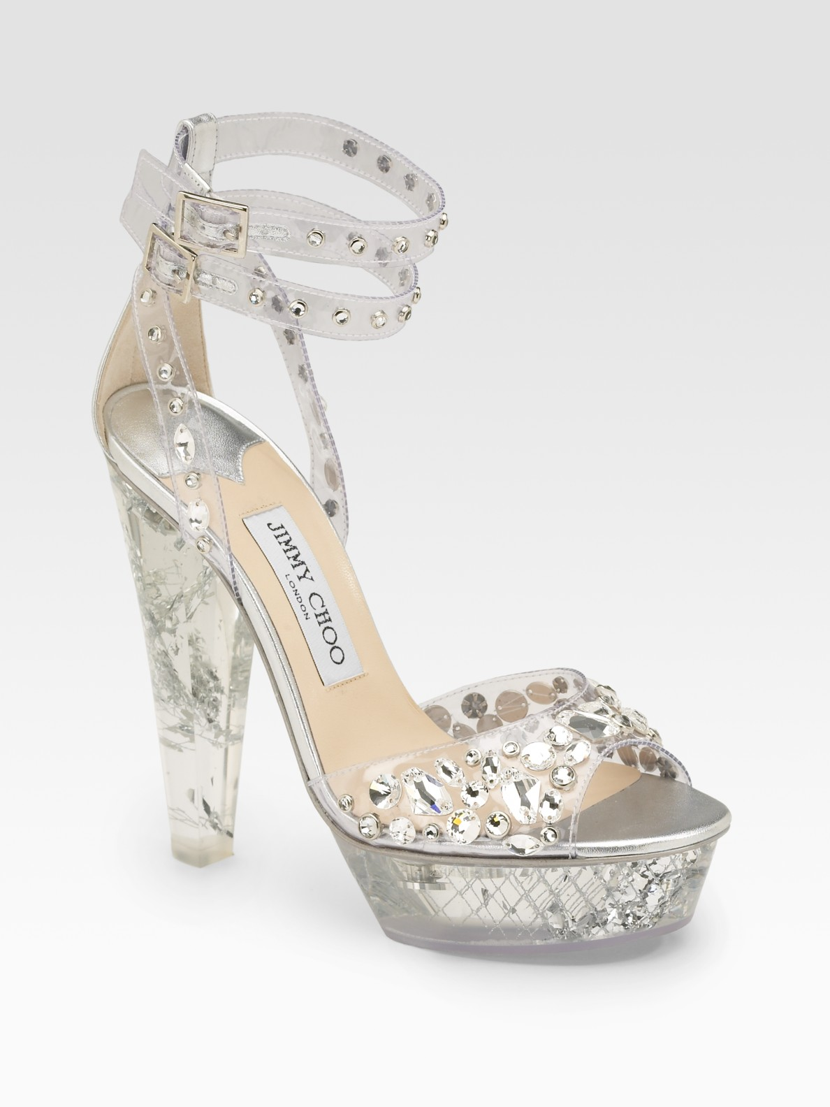 010a5c4ed1b Lyst - Jimmy Choo Niagra Plex Crystal-adorned Platform Sandals in ...