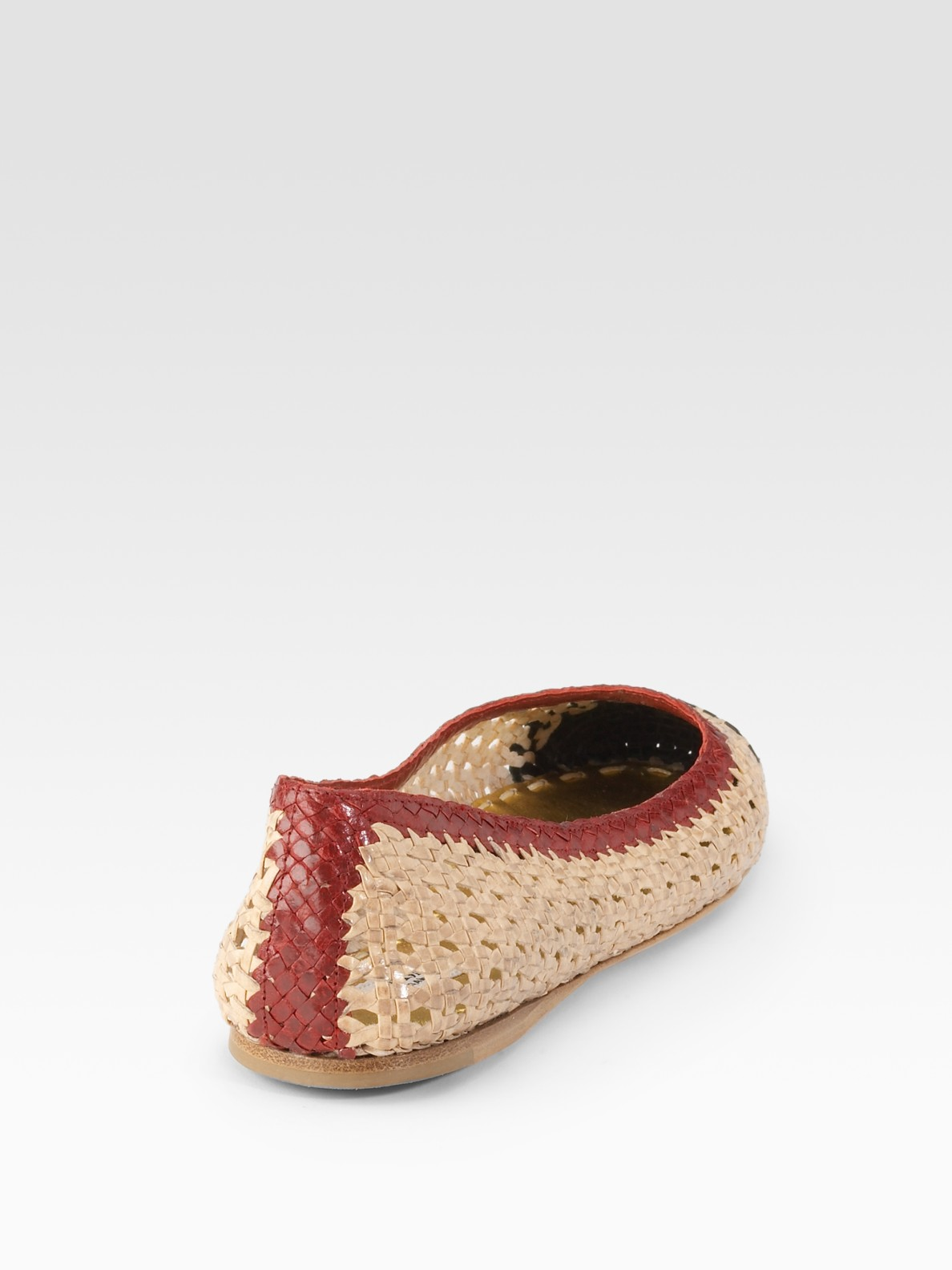 Prada Leather Woven Flats free shipping best sale 2014 cheap online limited edition sale online free shipping fashionable CQT62IWJhf