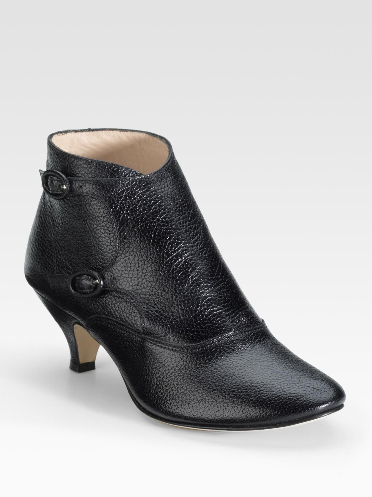 repetto marlon low heel ankle boots in black lyst
