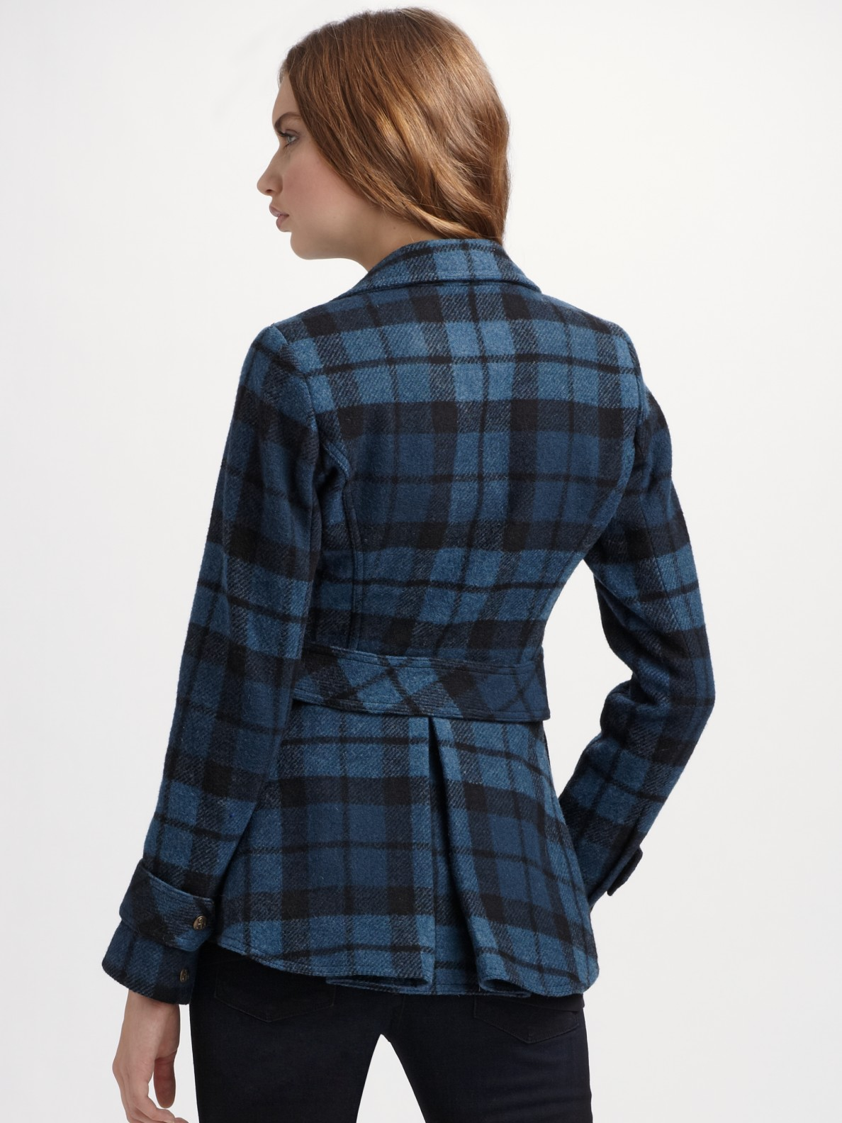 Smythe Plaid Hunting Jacket In Blue Lyst