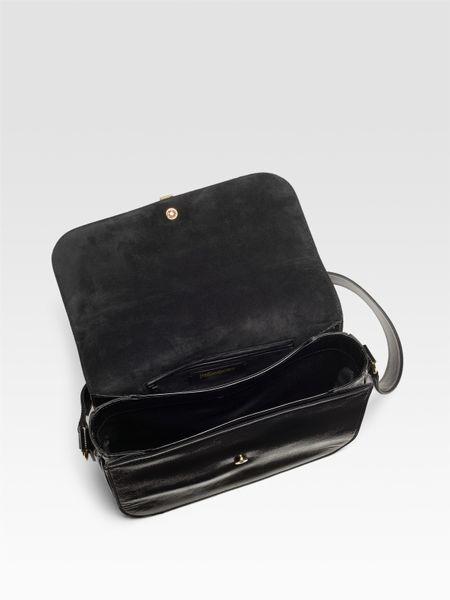Yves Saint Laurent Chyc Large Patent Flap Shoulder Bag \u2013 Shoulder ...
