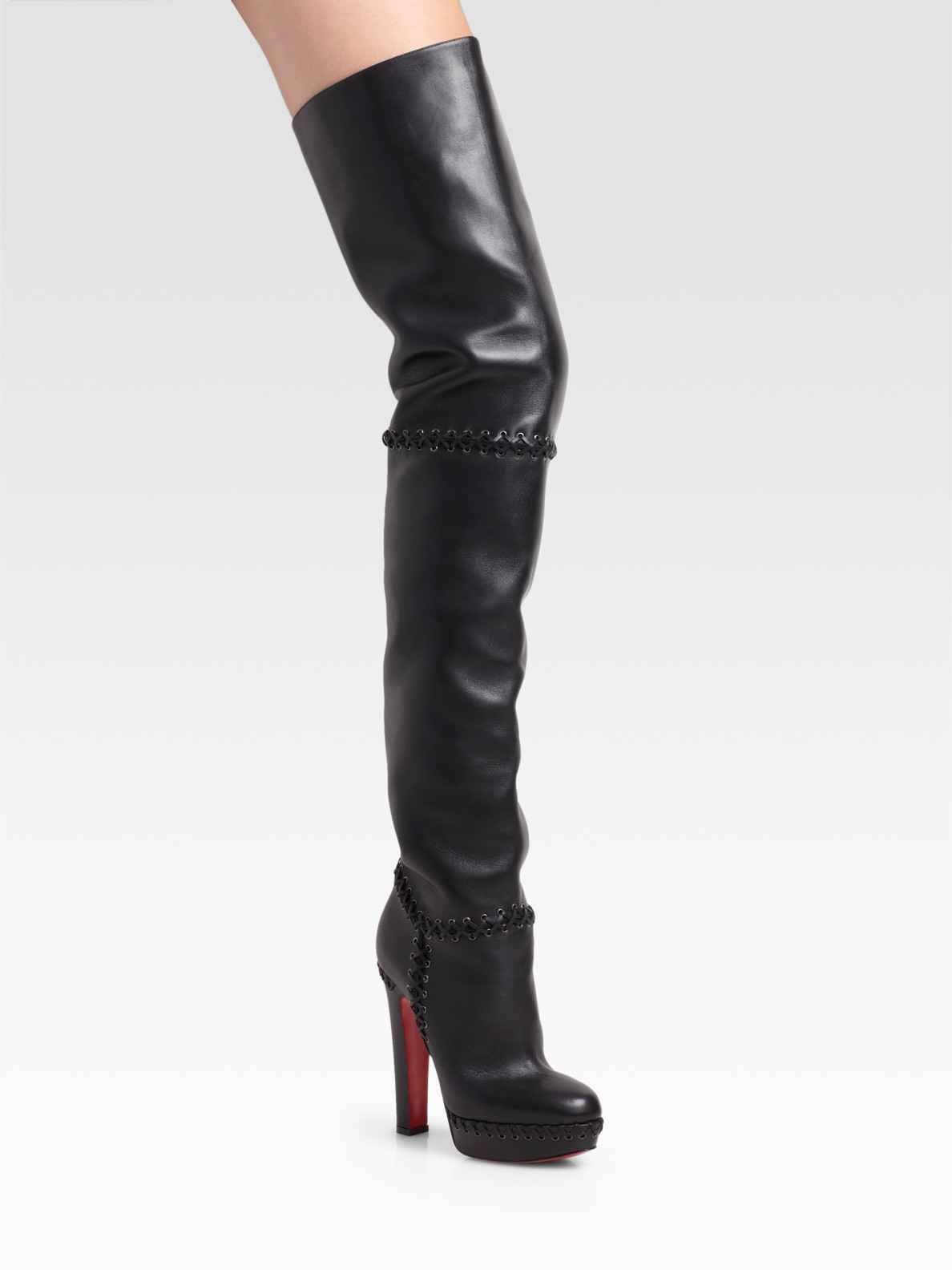 christian louboutin tres contente thigh high boots in