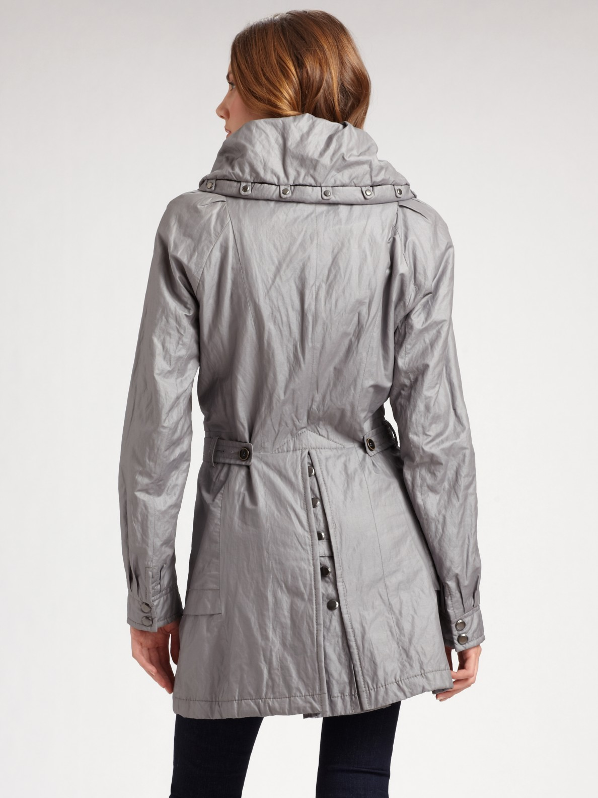 Lyst Creenstone Military Button Jacket In Gray