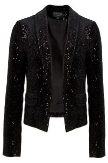 Snow From St Barth Sequined Cropped Jacket - Lyst