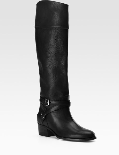 Lyst - Pink Pony Sandra Harness Leather Riding Boots in Brown