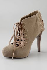 Ash Military Canvas Emi Lace-up Platform Bootie - Lyst