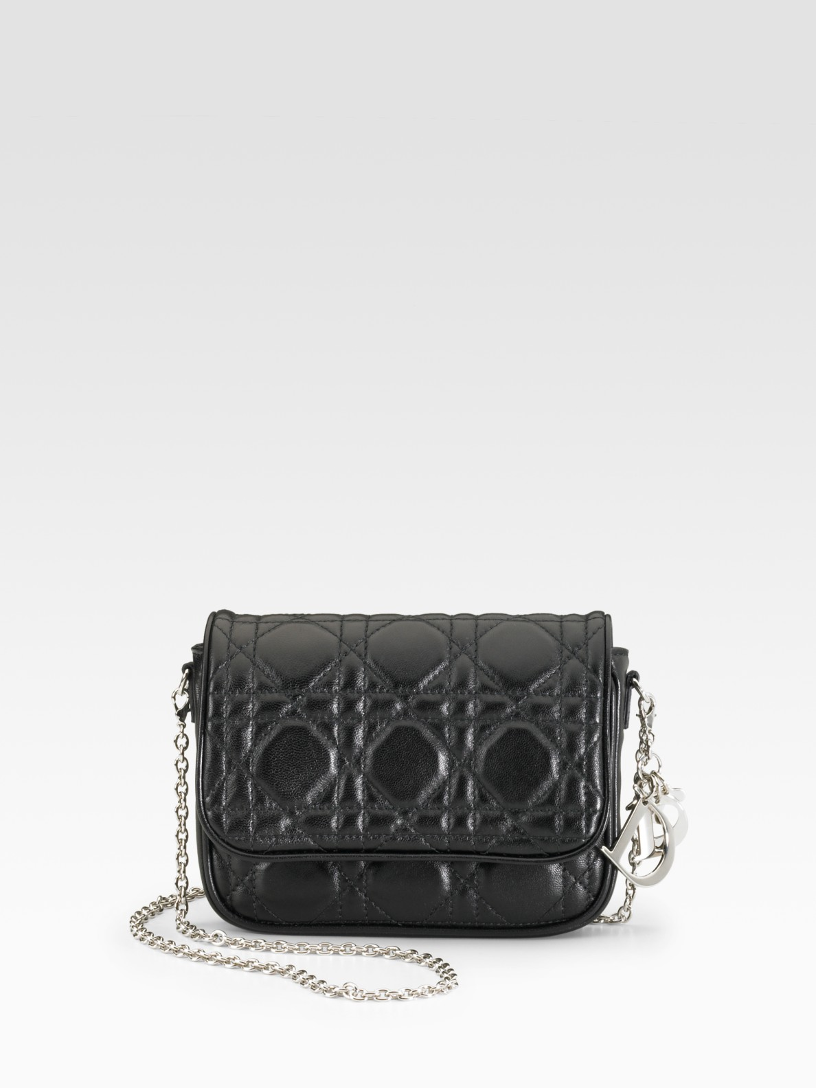 Lyst - Dior Lady Mini Shoulder Bag in Black 566f2e5028