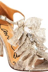 Lanvin Jeweled Sandal