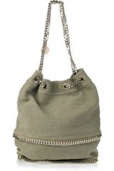 Stella McCartney Falabella Chain-trimmed Bucket Bag - Lyst