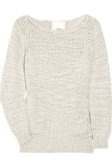 3.1 Phillip Lim Cotton-blend Open-knit Sweater - Lyst