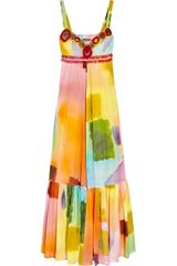 Easton Pearson Printed Cotton Maxi Dress - Lyst