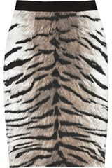 Giambattista Valli Cotton and Silkblend Tigerprint Pencil Skirt in Animal (tiger) - Lyst