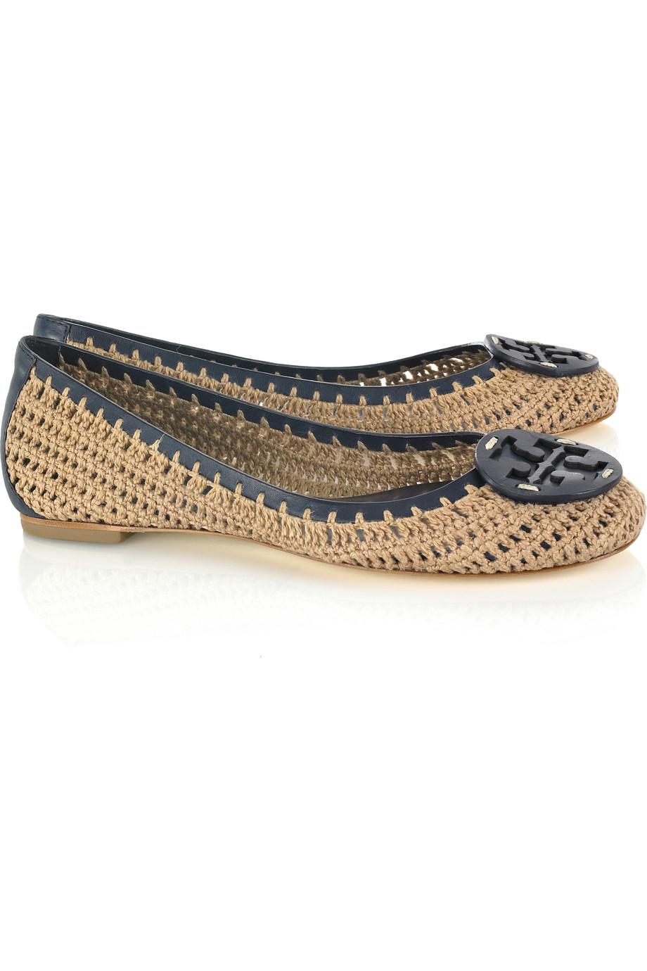 buy cheap 2014 2014 cheap price Tory Burch Crochet Round-Toe Flats eCxcrI0FMS