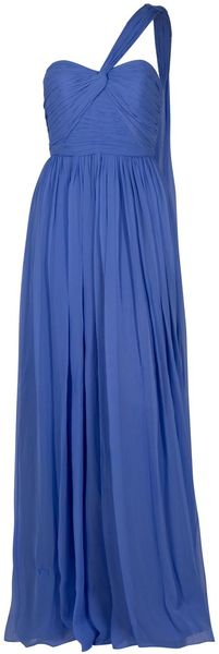Notte By Marchesa Draped Chiffon Gown - Lyst