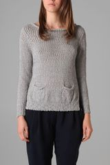 3.1 Phillip Lim Pullover Sweater with Cropped Back - Lyst