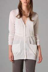 3.1 Phillip Lim Relaxed Cardigan with Cut Away Waist - Lyst
