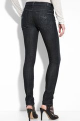 7 For All Mankind Gwenevere Dojo Pocket Skinny Stretch Jeans (dark Rinse Wash) - Lyst