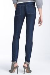 7 For All Mankind The Skinny Stretch Jeans (true Blue Wash) - Lyst