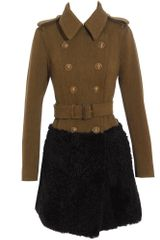 Burberry Prorsum Two-tone Military Coat