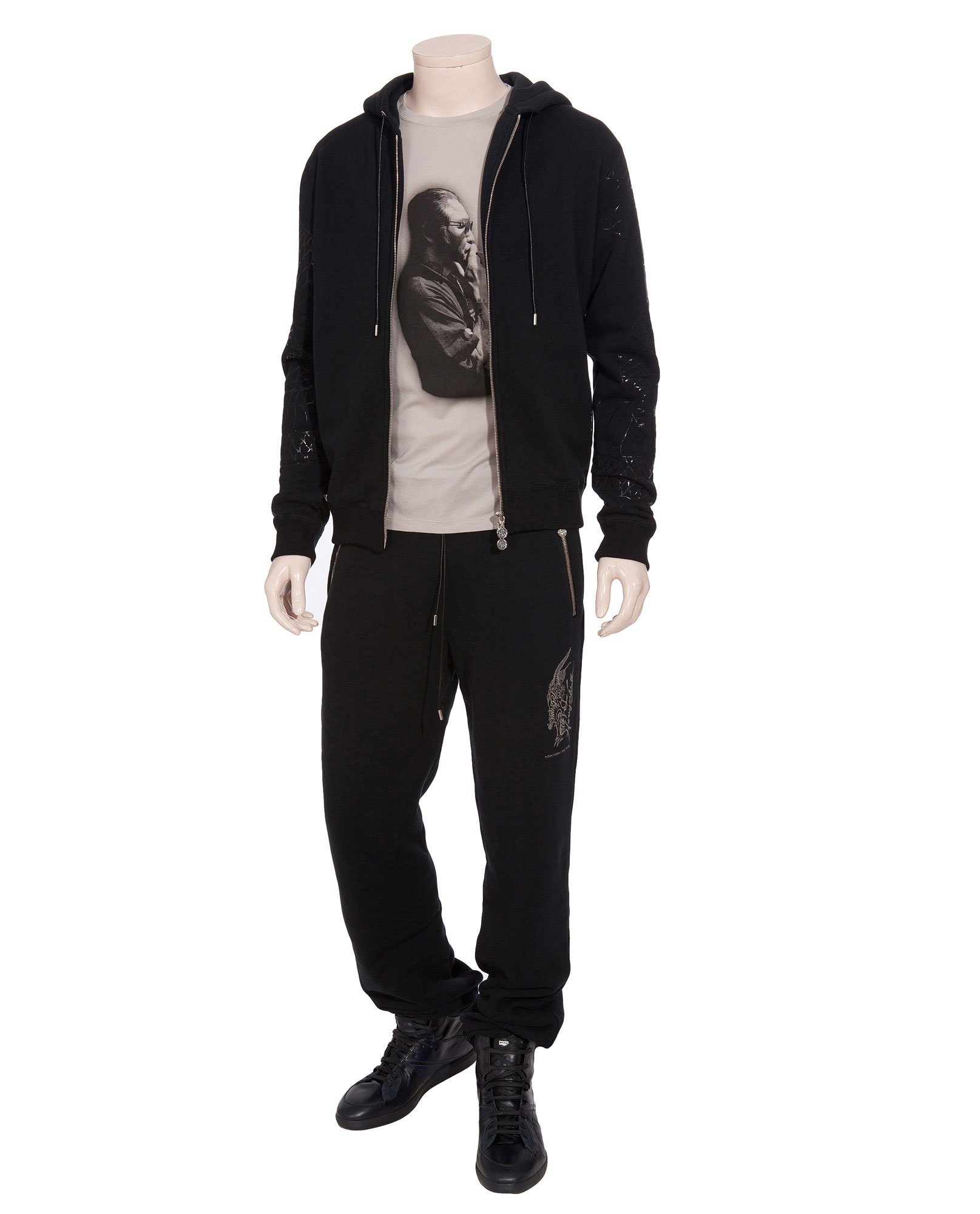 horiyoshi iii dragon print hoodie in black for men lyst