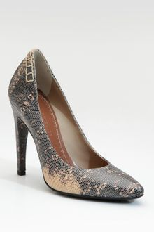 Proenza Schouler Lizard-embossed Leather Pumps - Lyst