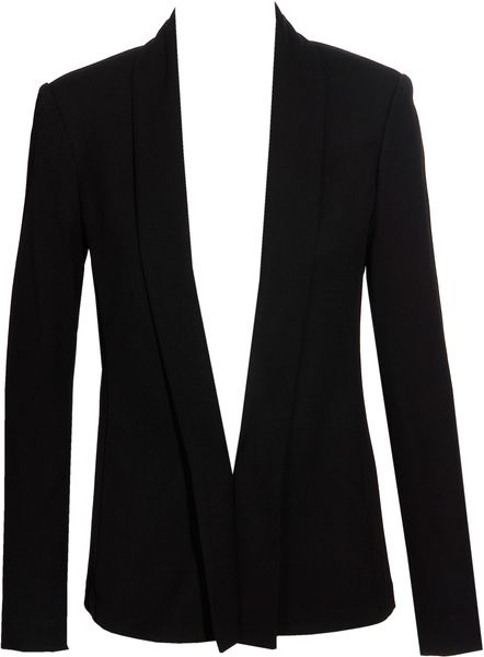 The Row Jacket with Shawl Collar in Black - Lyst