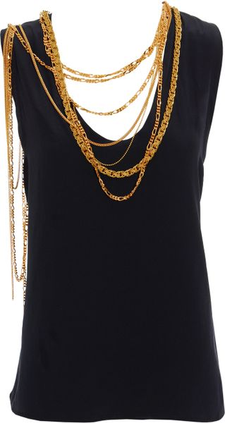 Balmain Vest with Chain Detail - Lyst