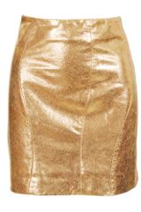 Cushnie Et Ochs Leather Wave Seam Mini Skirt - Lyst