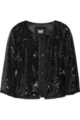 D&G Sequined Cropped Jacket - Lyst