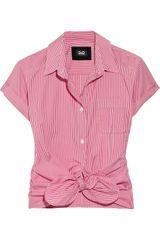 D&G Tie-front Gingham Cotton Shirt - Lyst