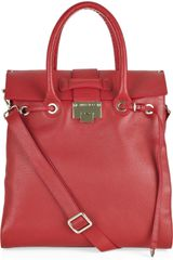 Jimmy Choo Rosabel Grained-leather Tote - Lyst