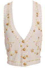 Temperley London Knit Embellished Trophy Waistcoat - Lyst